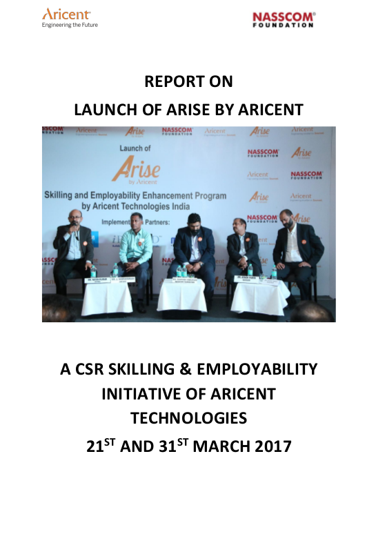 thumbnail of Arise_Aricent - Launch Report